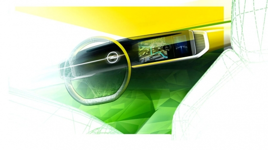 What is the Opel Pure Panel and which cars will be equipped with the technology