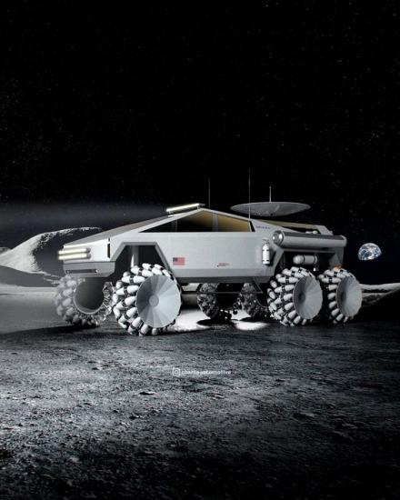 Kā izskatās Tesla Cybertruck, kuru var sūtīt uz Mēness?